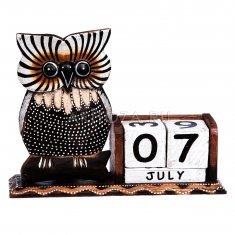 Календарь настольный Сова  l=21 см. (дерево)