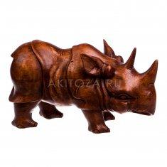 Носорог 30 см. (дерево суар)