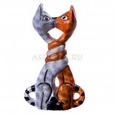 Коты влюбленные h=12 см. (дерево)
