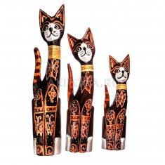 Кошки (набор 3 шт.) h=40,50,60  см. (дерево албезия)