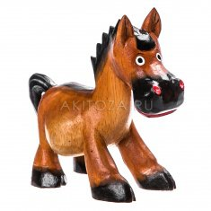 Лошадь l=17 см. (дерево албезия)