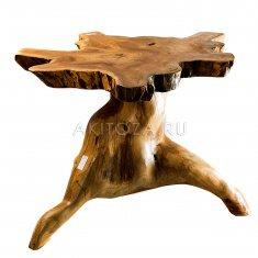 Стол (дерево тик) (корень) h=40-50 см (в ассорт.)