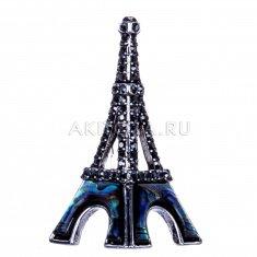 Брошь с перламутром Эйфелева башня Париж (металл)
