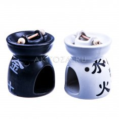 Аромалампа Инь-Янь h=10 см. (цвета-чёрный, белый) (керамика) (кор. 72 шт.)