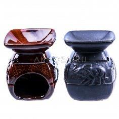 Аромалампа h=10 см. (цвета в ассорт.) (керамика) (кор. 72 шт.)