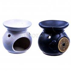 Аромалампа Монета h=8 см. (керамика) (цвета-чёрный, белый) (кор. 120 шт.)