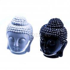 Аромалампа h=14 см. Голова Будды (керамика) (цвета-чёрный, белый) (кор. 48 шт.)