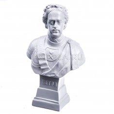 "Статуэтка бюст ""Петр I"" малый №2 Белый 16,5 см (гипс)"