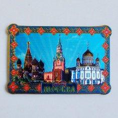 Магнит 6x8.5 см. Москва3 в 1 (фольга) (уп. 10 шт., кор. 500 шт.)
