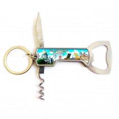 Нож с открывалкой складной  СПб (уп. 12 шт.)
