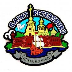 Магнит 8х8,5 см. СПб - Петропавловская крепость