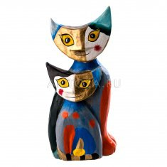Кошки в стиле Пикассо (пара) h=20 см (дерево)