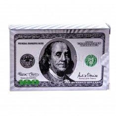 """Карты для игры в покер """"100$"""" серебро, цвет (уп. 10 колод)"""