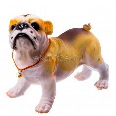 Собака 20 см.  Бульдог (полистоун)