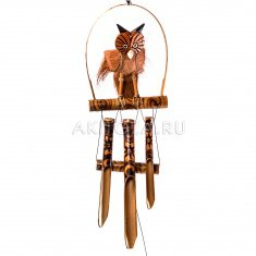 Музыка ветра Сова на бамбуке 50 см. (бамбук)