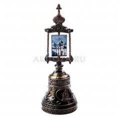 Колокольчик (икона) со стразами 13 см. В.Новгород  (уп. 12 шт., кор. 120 шт.)