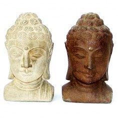 Голова Будды h=20 см. (в ассорт.) (камень)