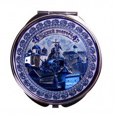 Зеркало 7 см. Гжель В.Новгород-4 в 1 (кор. 240 шт., упак. 12 шт.)