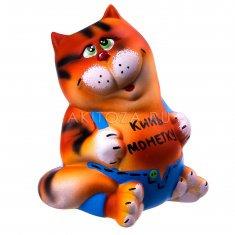 """Копилка """"Кот в штанах"""" h=21 см. (керамика)"""