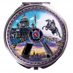 Зеркало 7 см. СПб-3 в 1 (кор. 240 шт., уп. 12 шт.)