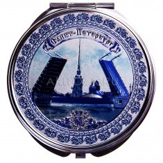 Зеркало складное СПб-Мост Гжель