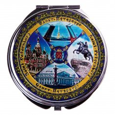 Зеркало  7 см. СПб-4 в 1 (уп. 12 шт.)