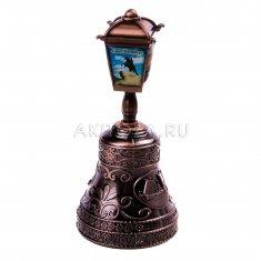 Колокольчик-фонарь 10 см. СПб-4 в 1 (медь) (уп. 12 шт.)