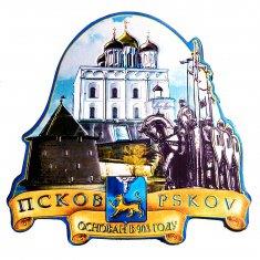 Магнит Псков-3 в 1 (фольга) (уп. 10 шт., кор. 500 шт.)
