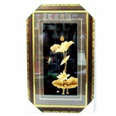 Картина с соломкой 35х57 см. Лилия