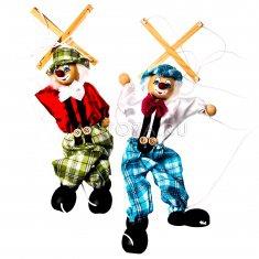 Кукла-марионетка Клоун (дерево, ткань) (в ассорт.)