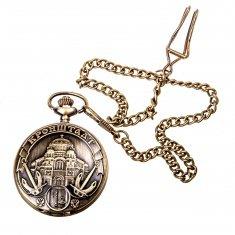 Часы карманные (металл, бронза) Кронштадт  (уп. 50 шт., кор. 500 шт.)