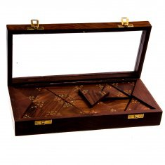 Треугольное домино (тримино) в деревянной коробке 28x13 см (дерево)