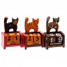 Календарь настольный h=11 см. Кот (дерево)