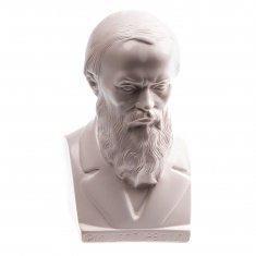 """Статуэтка бюст """"Достоевский Ф.М."""" 14 см Белый (гипс)"""