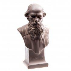 """Статуэтка бюст """"Толстой Л.Н."""" 14 см Белый (гипс)"""