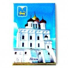 Магнит-открытка блёстки Псков (уп.50 шт., кор. 500 шт.)
