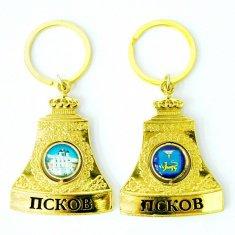 Брелок-колокол Псков (цвет-золото) (уп. 12 шт.)
