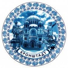 Тарелка 15 см. Кронштадт-Гжель-3 в 1 (фарфор)(кор. 72 шт.)