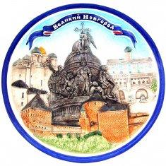 Тарелка 20 см. В.Новгород (керамика) (кор.32 шт.)