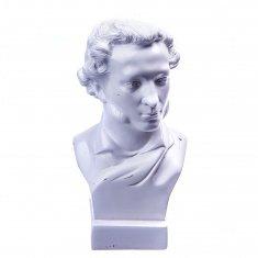 """Статуэтка бюст """"Пушкин А.С."""" малый Белый 14 см (гипс)"""