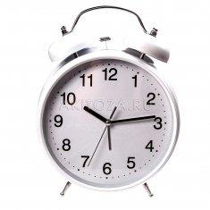Часы - будильник классический (бел.) 30 см.  d=20 см. 08-13-AKC
