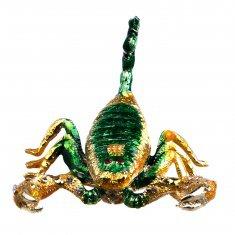 Шкатулка Скорпион l=8 см (металл, стразы)
