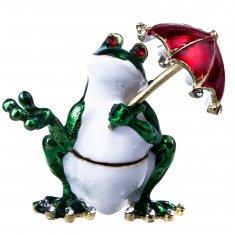 Шкатулка Лягушка с зонтом