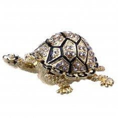 Шкатулка Черепаха l=7,5 см (металл, стразы)