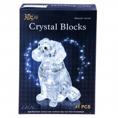 Пазл 3D Собака (цвета в ассорт.) (пластик)
