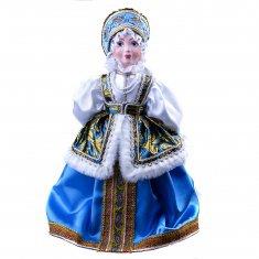 Русский традиционный костюм. Кукла на чайник  h=50 см. (фарфор, текстиль)