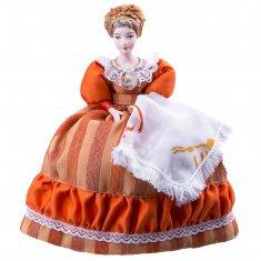 Купчиха к.19в.-н.20 века. Россия. Кукла на чайник h=28 см. (фарфор, текстиль)