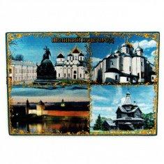 Магнит 8х5,5 см. В.Новгород-4 в 1  (фольга) (уп. 12 шт., кор. 500 шт.)