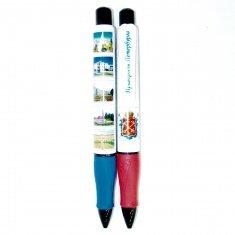 Ручка  35 см. Пригороды Санкт-Петербурга (синий,  красный)(упак.24 шт.)