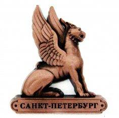 Магнит  фигурный 8x7 см. СПб-Сфинкс (медь) (уп. 12 шт.)